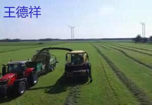强大的农机,收割粉碎打包一气呵成,真是厉害